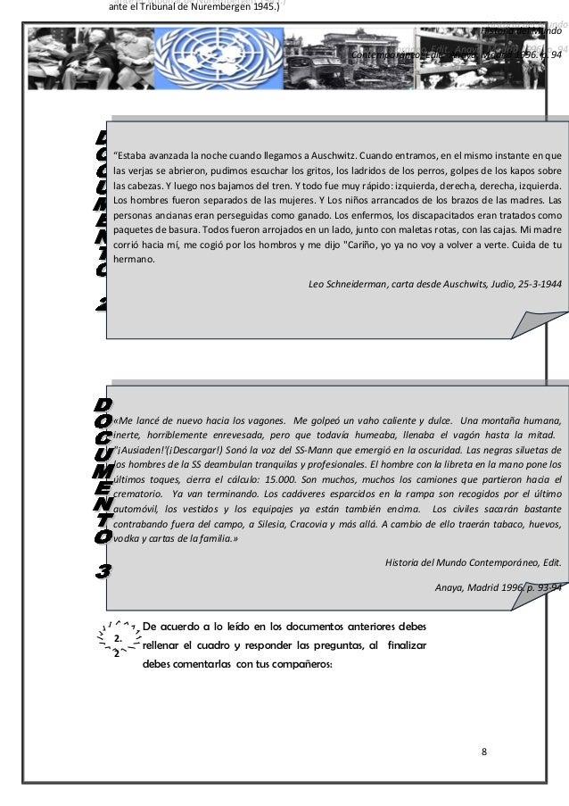 De acuerdo a lo leído en los documentos anteriores debes rellenar el cuadro y responder las preguntas, al finalizar debes ...