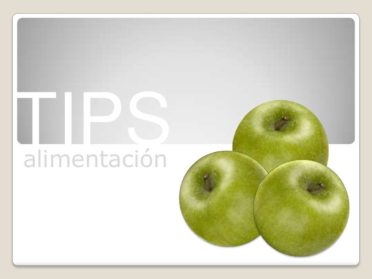 TIPS<br />alimentación<br />