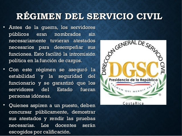 RÉGIMEN DEL SERVICIO CIVILRÉGIMEN DEL SERVICIO CIVIL  Antes de la guerra, los servidoresAntes de la guerra, los servidore...