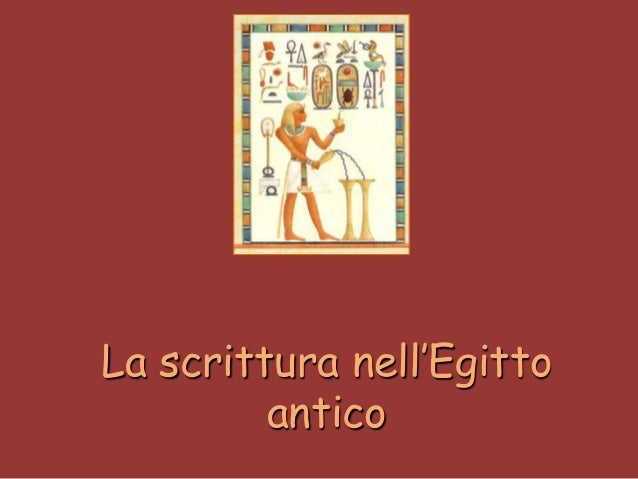 La scrittura nell'Egitto antico
