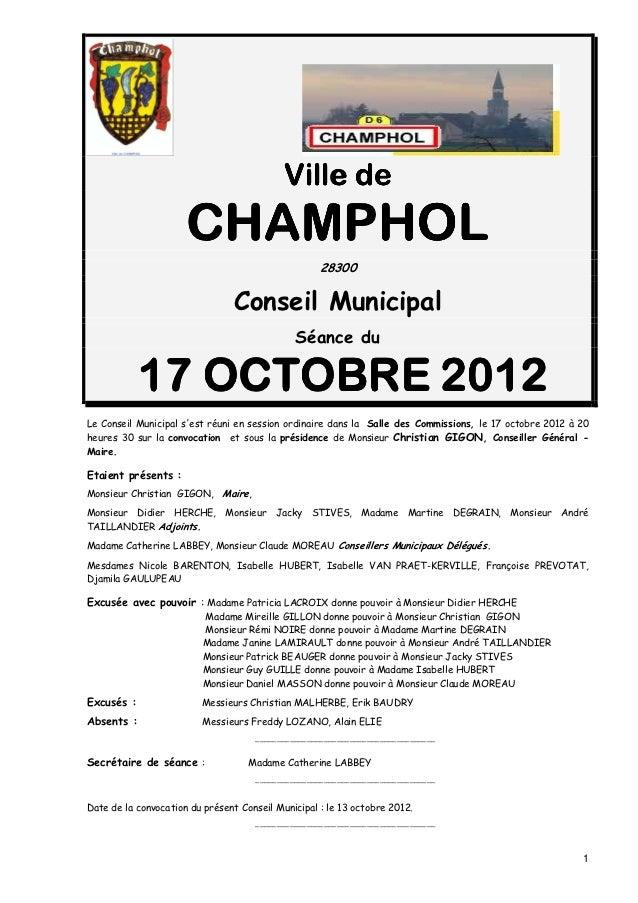 Ville de                      CHAMPHOL                                                    28300                           ...
