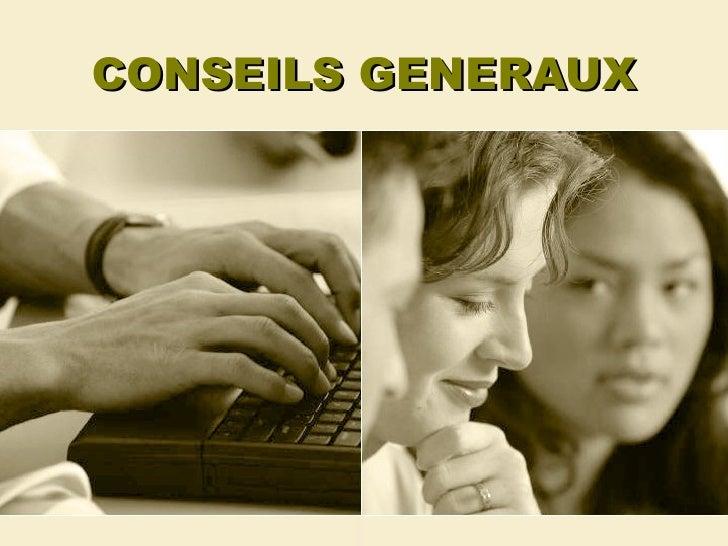 CONSEILS GENERAUX