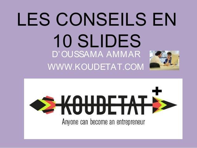 Les conseils d'Ossama Ammar Slide 2