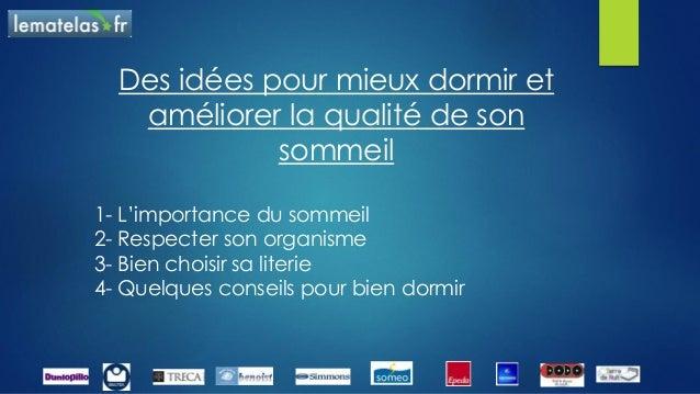 Conseils pour l'achat de sa literie lematelas.fr Slide 2