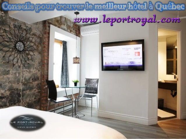 Trouvez une belle suite à Québec peut être difficile, considérant que l'offre d'hébergement y est l'une des plus important...
