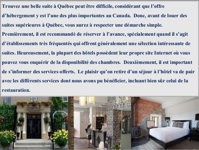 Conseils pour trouver le meilleur h tel qu bec for Trouver 1 hotel