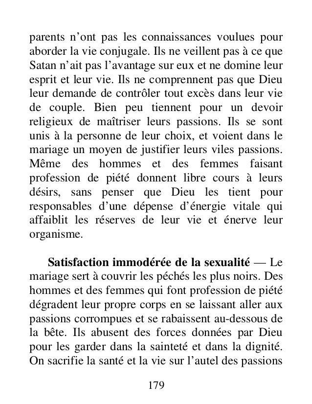 Conseils:conduite sexuelle adultere et divorce