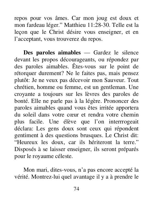 """repos pour vos âmes. Car mon joug est doux et mon fardeau léger."""" Matthieu 11:28-30. Telle est la leçon que le Christ dési..."""