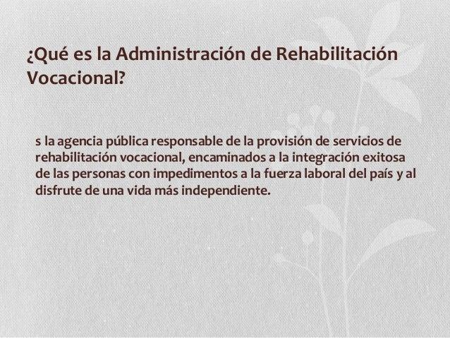 Consejería en rehabilitación vocacional