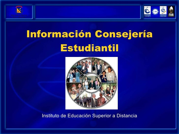 Información Consejería Estudiantil Instituto de Educación Superior a Distancia