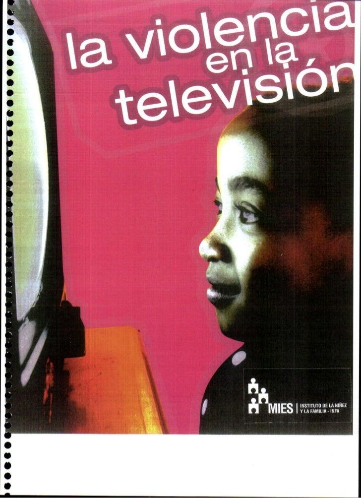 Consejo naciona de la niñez y adolescencia violencia en la tv blanco y negro 1