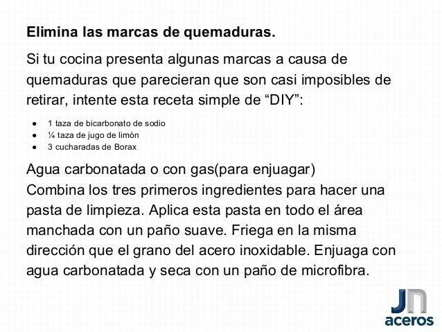 Consejos De Cocina   6 Consejos Para Limpiar Las Superficies De Acero Inoxidable De Tu Coc