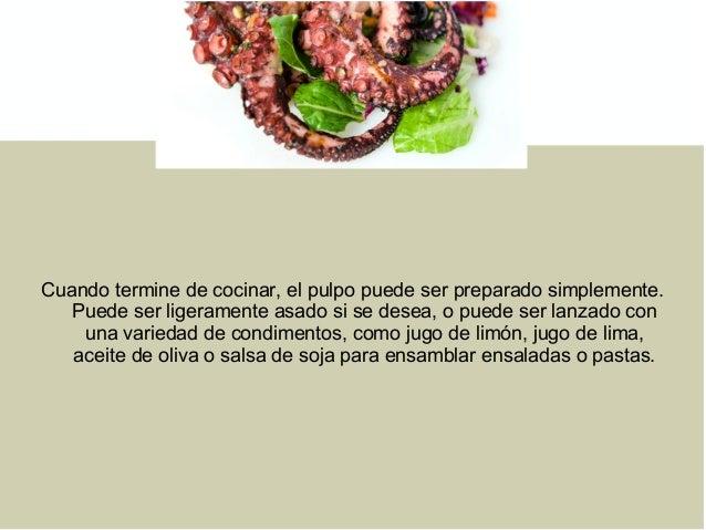 Consejos Para Cocinar El Pulpo