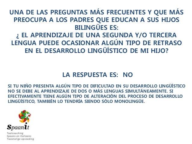 30 días de bilingüismo: Episodio 3 - Mitos de la eduación bilingüe Slide 2