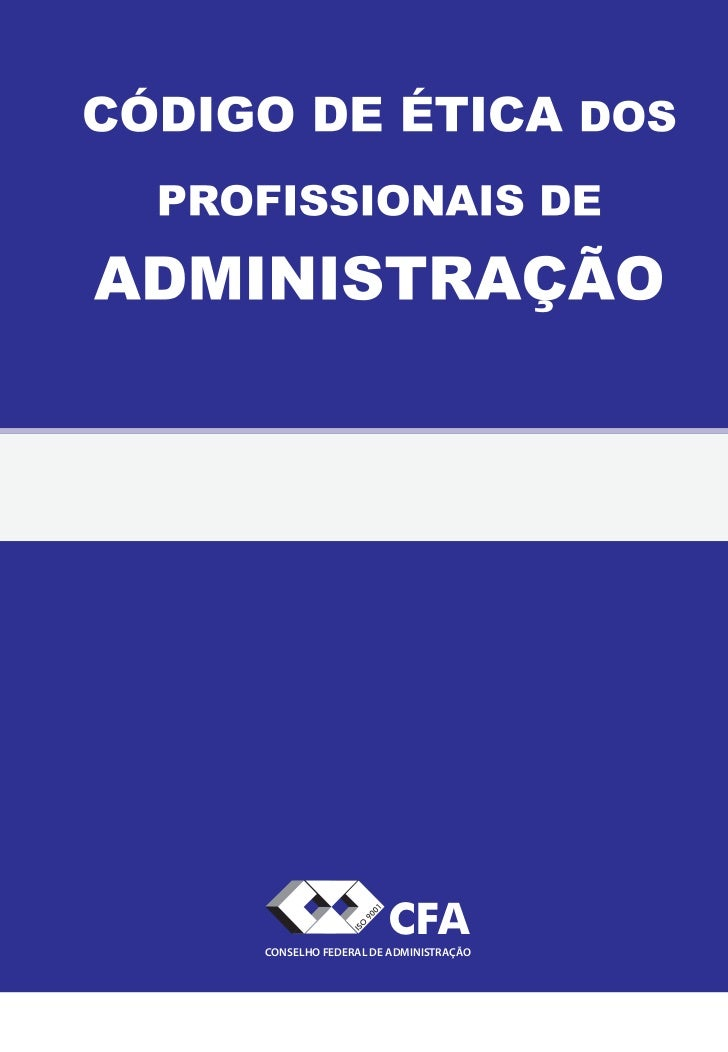 CFACONSELHO FEDERAL DE ADMINISTRAÇÃO