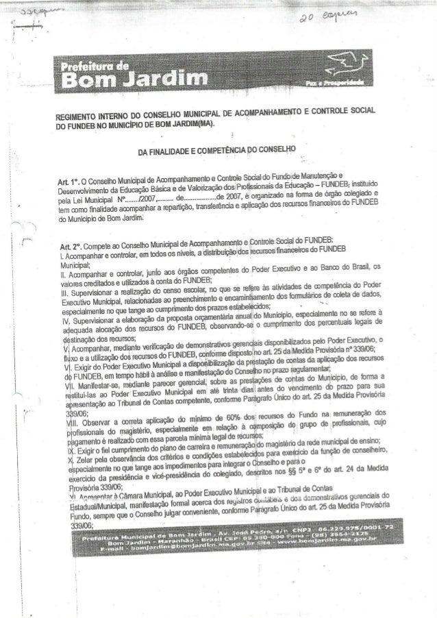 Conselho Municipal de Educação de Bom Jardim - MA