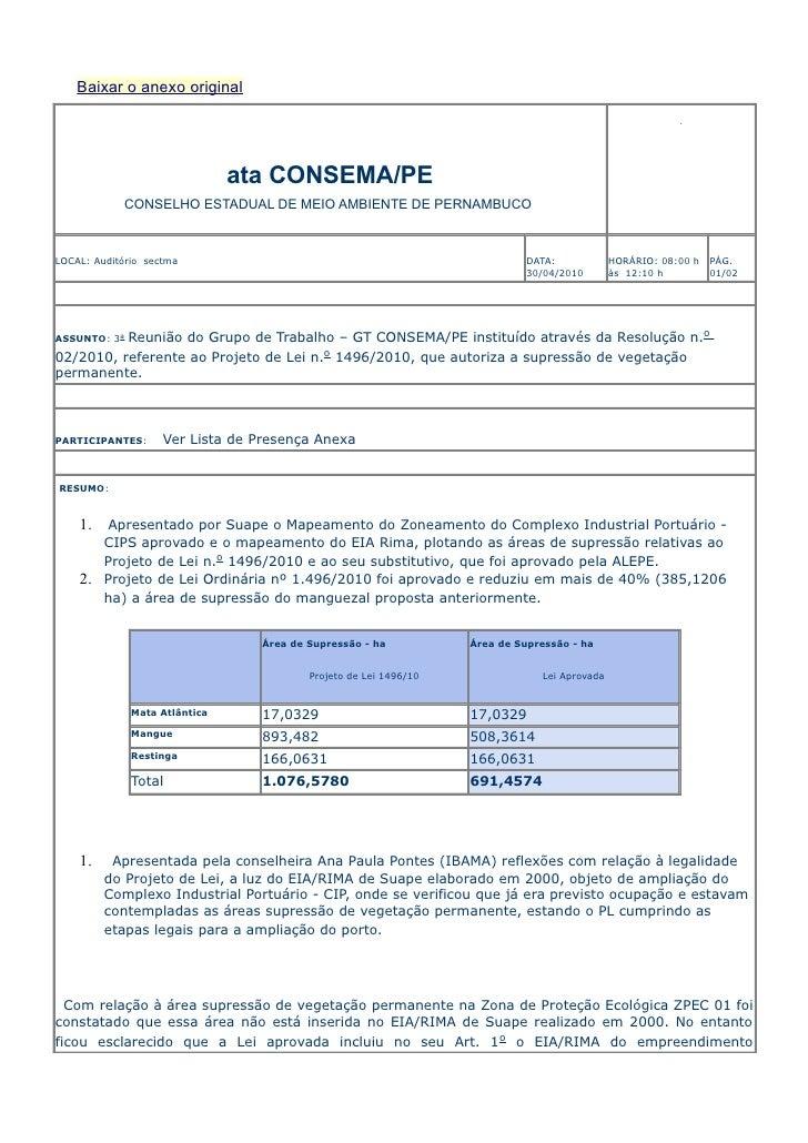 Baixar o anexo original                                    ata CONSEMA/PE             CONSELHO ESTADUAL DE MEIO AMBIENTE D...