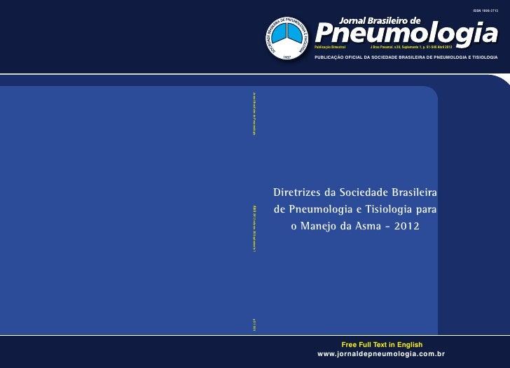 ISSN 1806-3713                                             Publicação Bimestral   J Bras Pneumol. v.38, Suplemento 1, p. S...