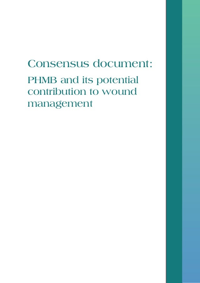 Consensus document: PHMB and its potential contribution to wound management Activa Re document, final.indd 1 27/08/2010 11...