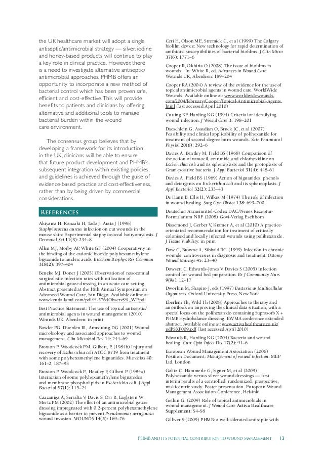 13PHMB and its potential contribution to wound management the UK healthcare market will adopt a single antiseptic/antimicr...