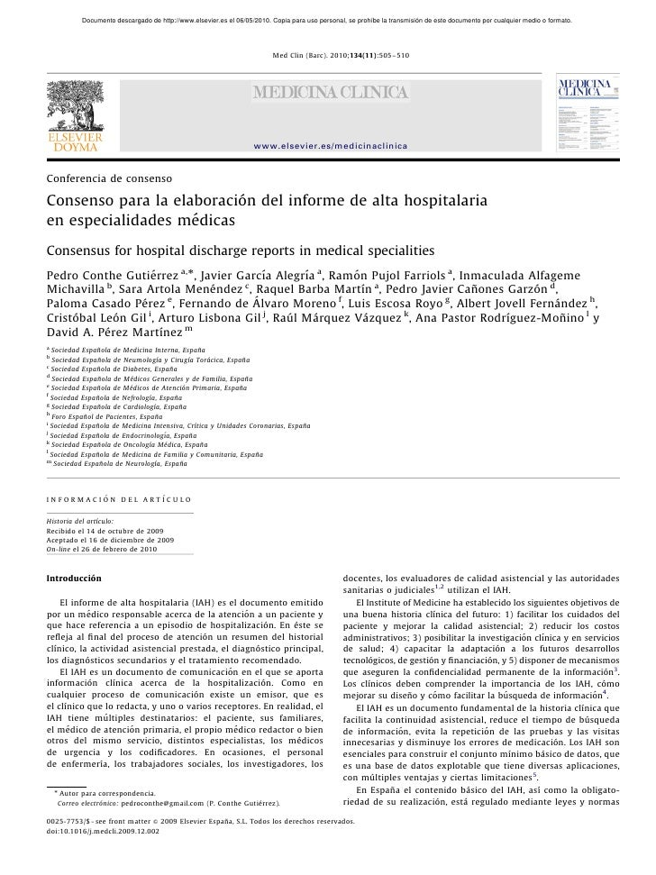 ARTICLE IN PRESS             Documento descargado de http://www.elsevier.es el 06/05/2010. Copia para uso personal, se pro...