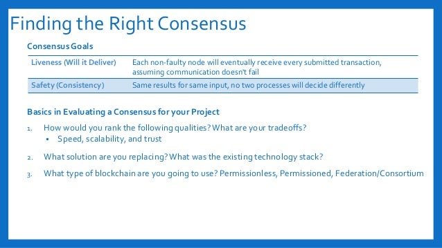 Finding the Right Consensus Consensus Goals Basics in Evaluating a Consensus for your Project 1. How would you rank the fo...