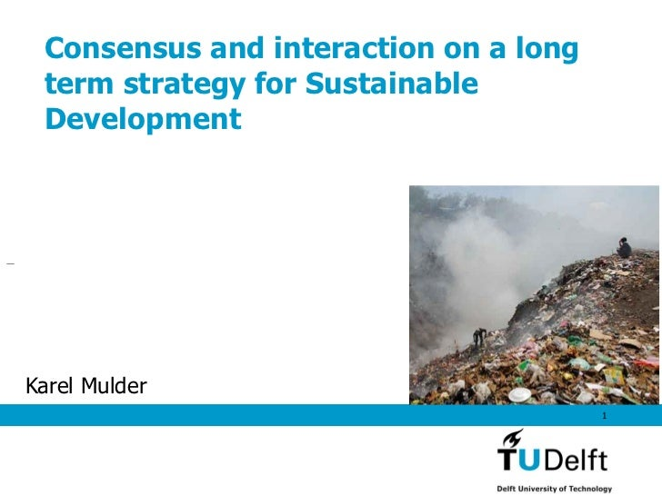 Consensus and interaction on a long term strategy for Sustainable DevelopmentKarel Mulder                                 ...