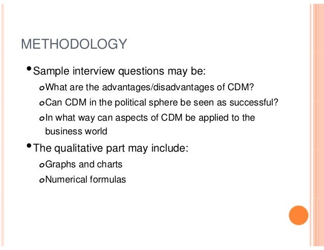 ... 28. METHODOLOGYu2022Sample Interview Questions ...