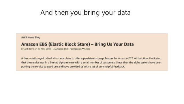 And then you bring your data