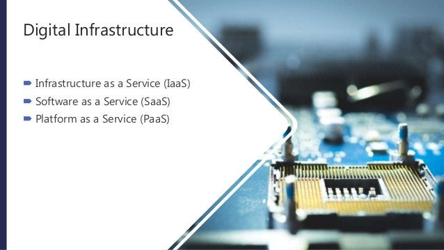 Digital Infrastructure  Infrastructure as a Service (IaaS)  Software as a Service (SaaS)  Platform as a Service (PaaS)