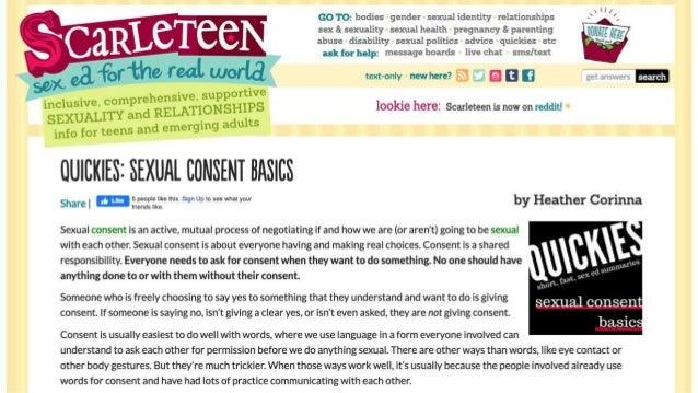 Consent Culture- Online Consent Education