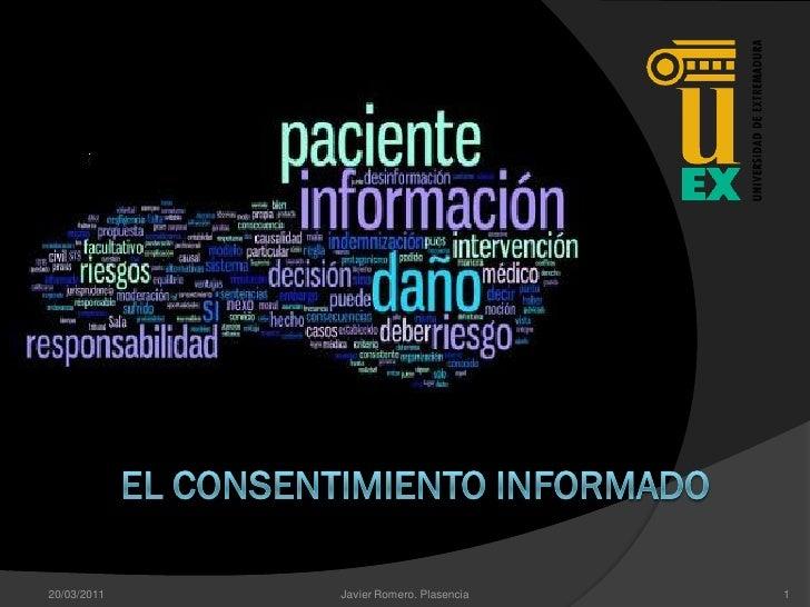 20/03/2011   Javier Romero. Plasencia   1