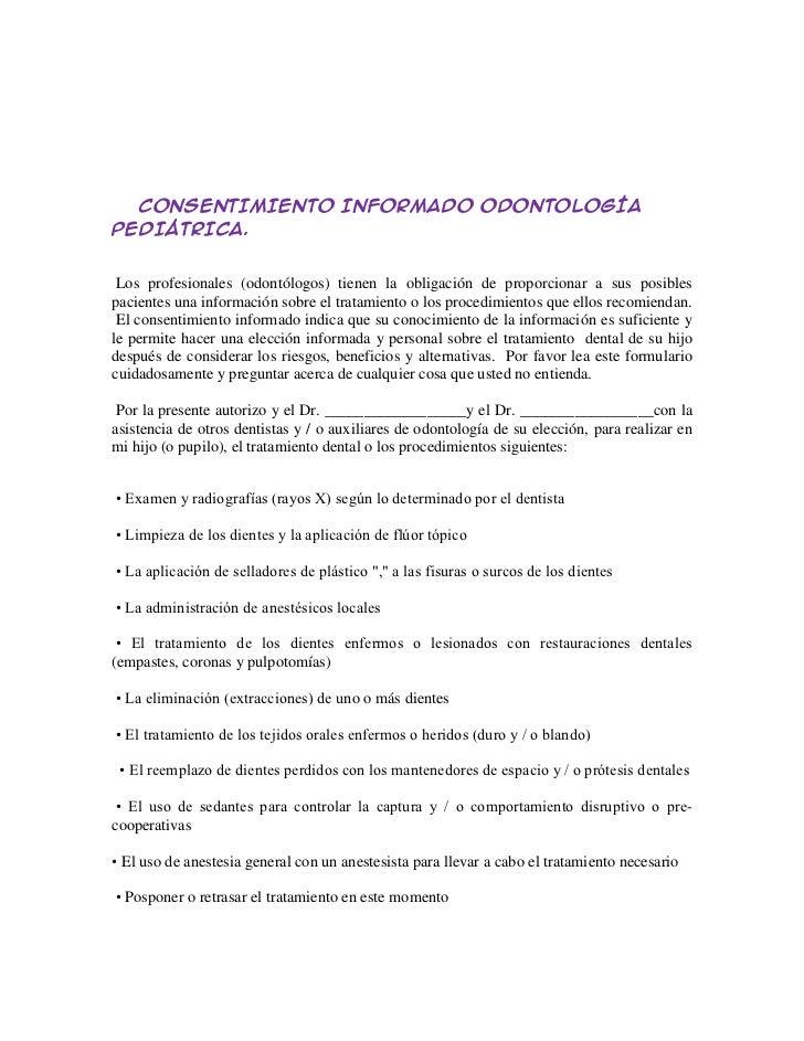 Moderno Plantilla De Formulario De Consentimiento Informado ...