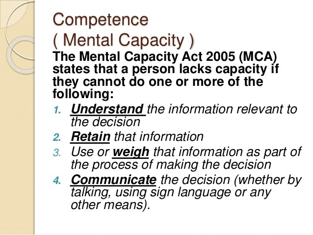 mental capacity and informed consent to receive treatment Informed consent in adults with developmental disabilities (dd) capacity to consent for each treatment informed consent in adults with developmental disabilities.