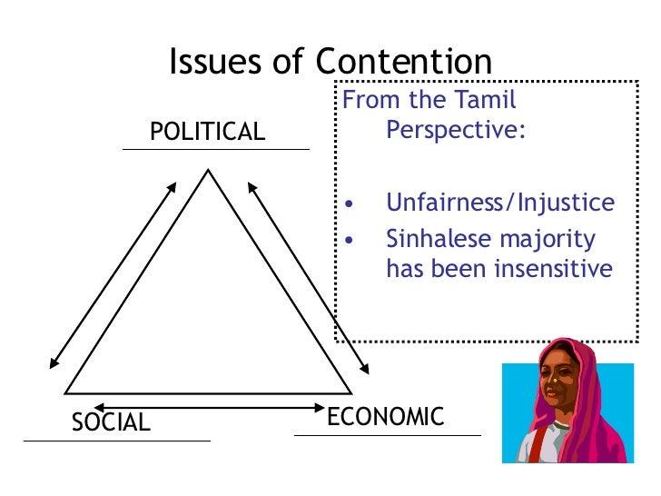 <ul><li>From the Tamil Perspective: </li></ul><ul><li>Unfairness/Injustice </li></ul><ul><li>Sinhalese majority has been i...