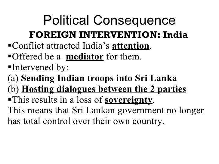 Consequences of sri lanka conflict essay