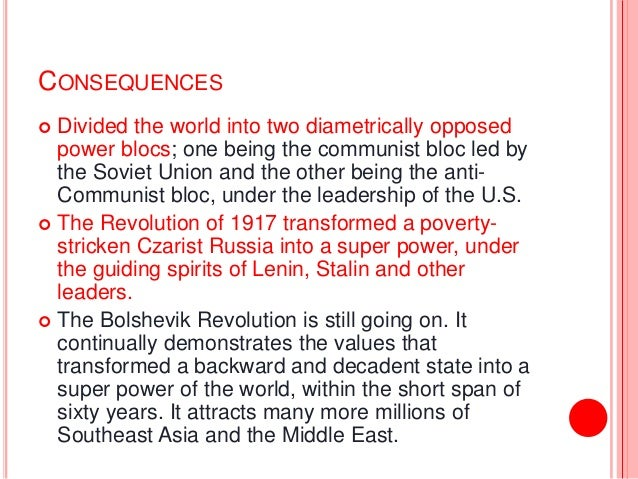 consequences of russian revolution The russian revolution is the mightiest event of the world war its outbreak, its unexampled radicalism, its enduring consequences, constitute the clearest condemnation of the lying phrases.