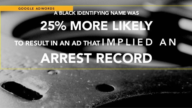 PLACEHOLDER@ C C Z O N A PLACEHOLDER PLACEHOLDERA BLACK IDENTIFYING NAME WAS  25% MORE LIKELY TO RESULT IN AN AD THAT I ...