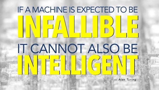 @ C C Z O N A IF A MACHINE IS EXPECTED TO BE INFALLIBLE IT CANNOT ALSO BE INTELLIGENT— A l a n Tu r i n g