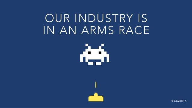 @ C C Z O N A OUR INDUSTRY IS  IN AN ARMS RACE