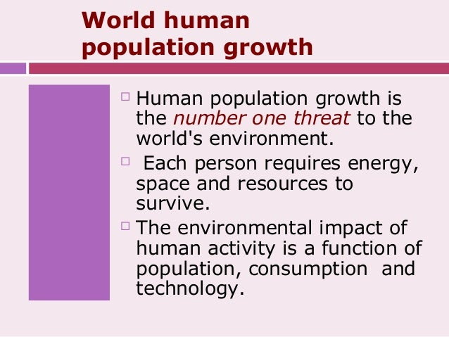 Growth Of Human Population And Its Impact On Natural Environment