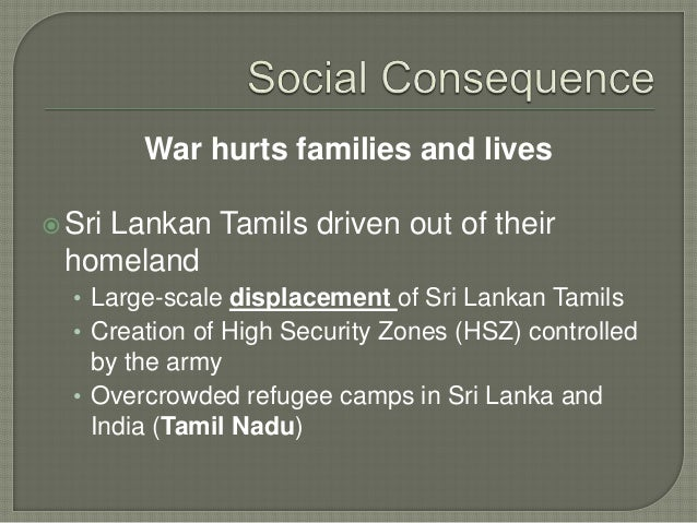 Consequences of the Conflict in Sri Lanka