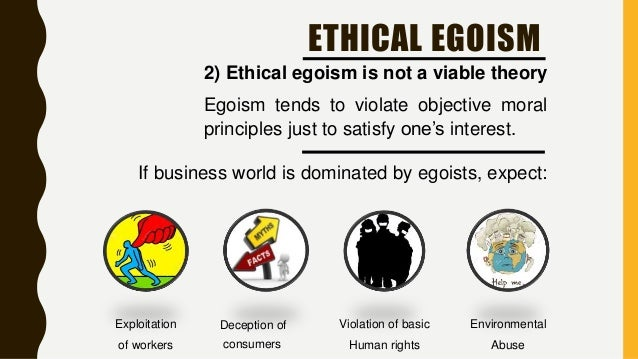 consequentialism ethical egoism ethical egoism