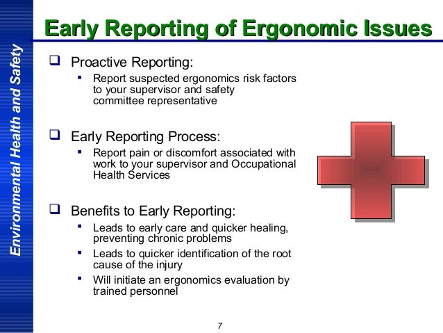Ergonomic factors in workplace accidents