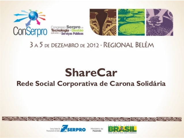 ShareCar Rede Social Corporativa de Carona Solidária