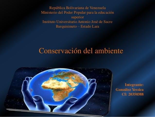 República Bolivariana de Venezuela Ministerio del Poder Popular para la educación superior Instituto Universitario Antonio...