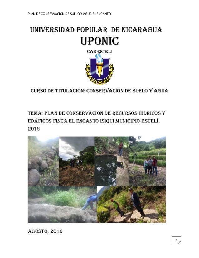 Conservacion de suelo y agua