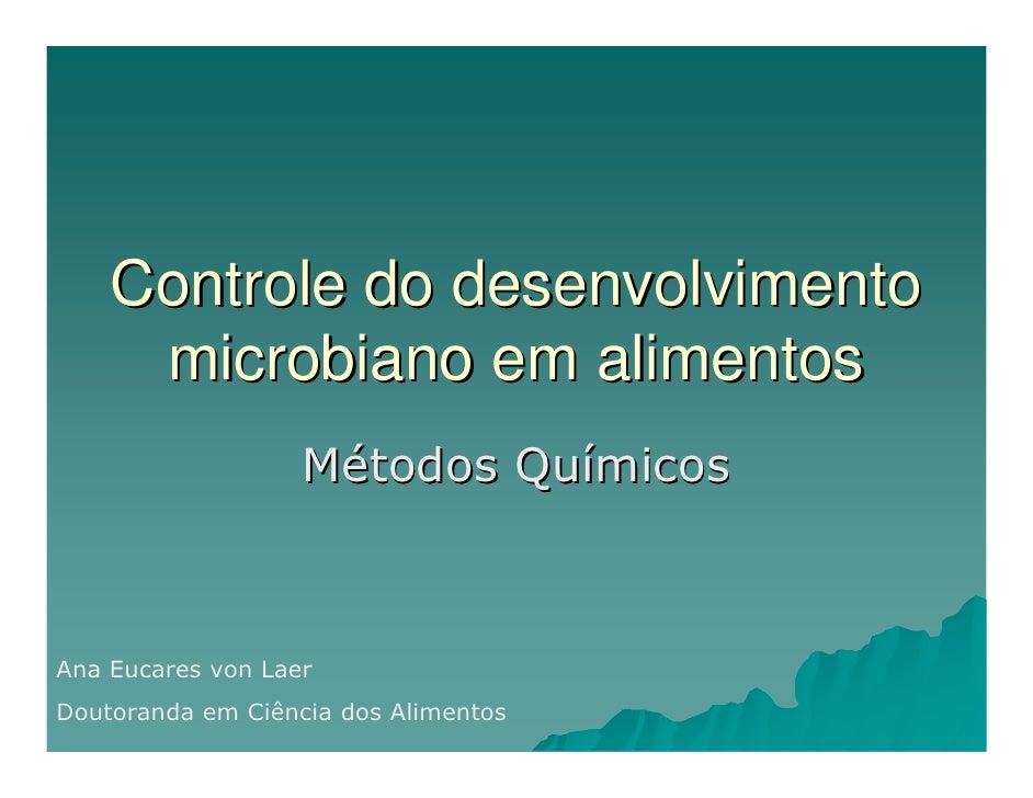 Conservação metodos quimicos