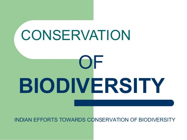 CONSERVATION OF BIODIVERSITY INDIAN EFFORTS TOWARDS CONSERVATION OF BIODIVERSITY