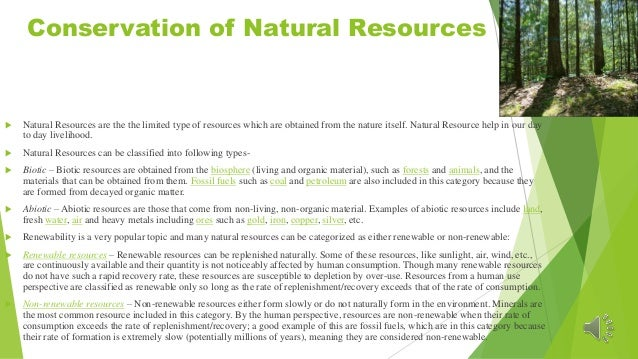 Which Of These Is Not An Example Of Natural Resources Image